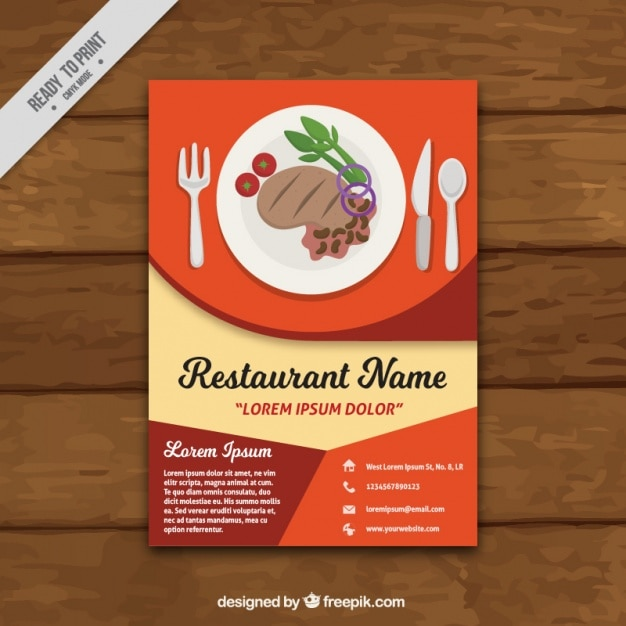 Abstract Restaurant Brochure Free Vector