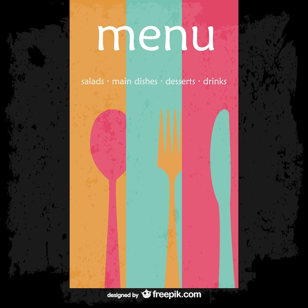 Abstract restaurant menu vector Free Vector