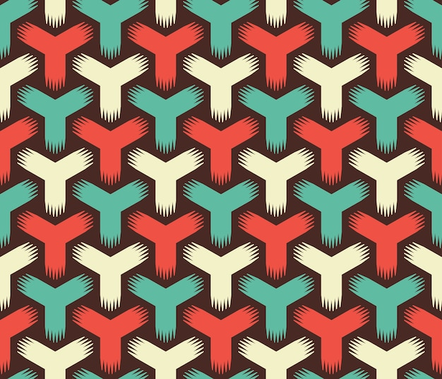 Abstract retro color seamless pattern Premium Vector