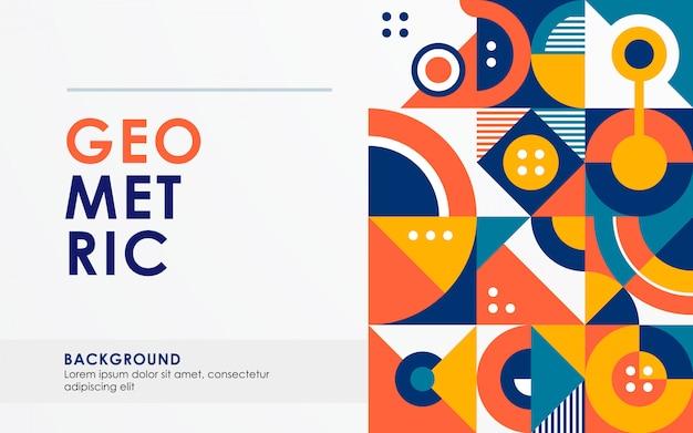 Abstract retro geometric shape background Premium Vector