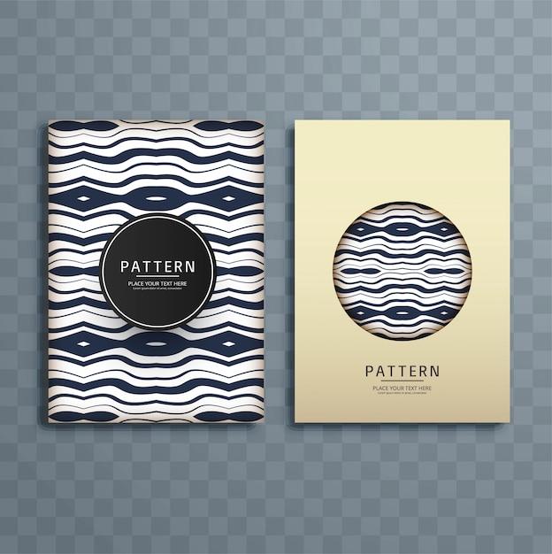 abstract retro pattern brochure design vector free download