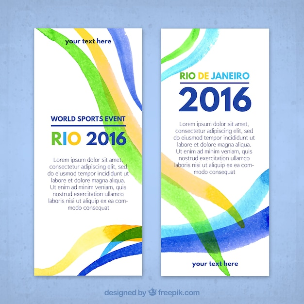 Abstract rio 2016 banners