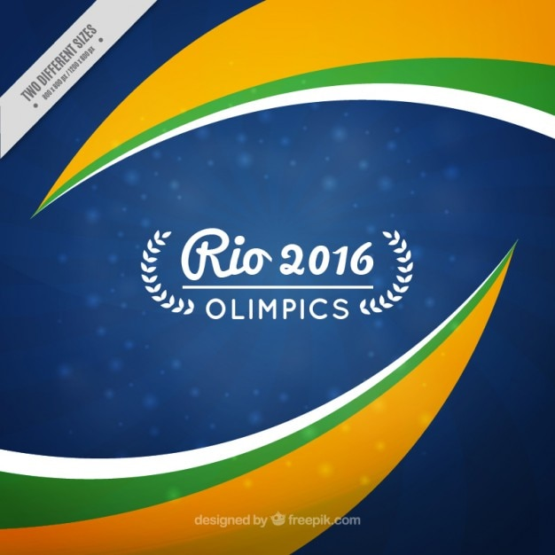 Abstract rio olimpics background Free Vector