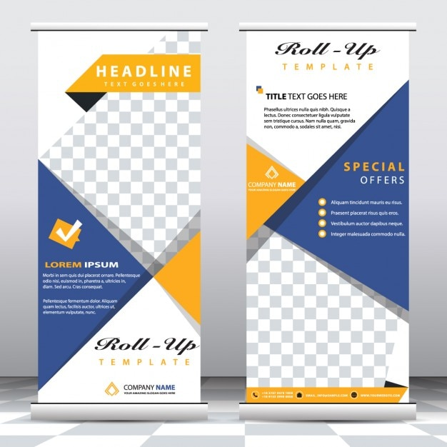 abstract roll up banners templates vector free download. Black Bedroom Furniture Sets. Home Design Ideas