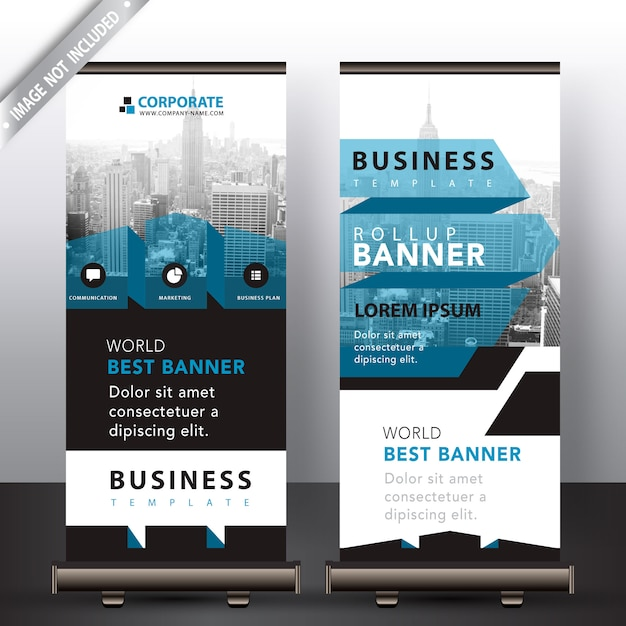 Abstract roll up in blue ribbon detailed Free Vector