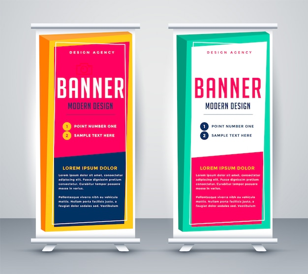 Abstract rollup business presentation banner Free Vector