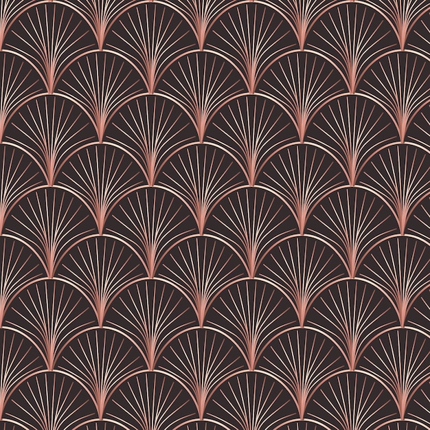 Abstract rose gold art decoration pattern Premium Vector