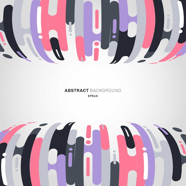 Abstract rounded shapes lines bending transition background Premium Vector