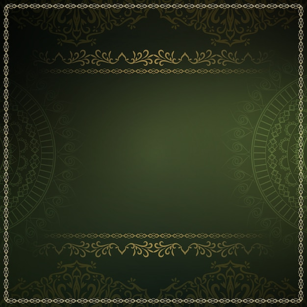 Abstract royal luxury dark green background Free Vector