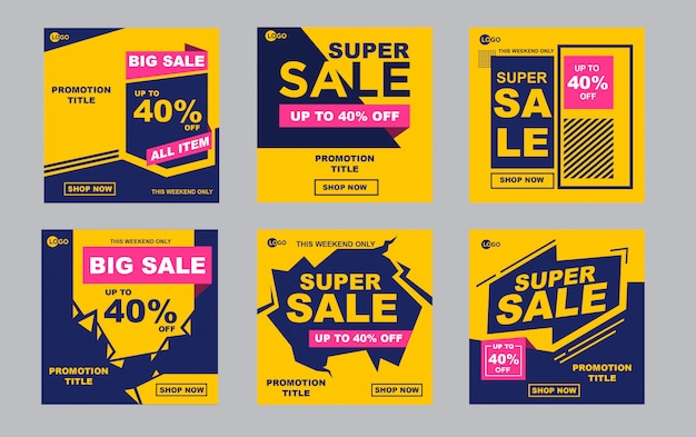 Abstract sale banner template promotion Premium Vector