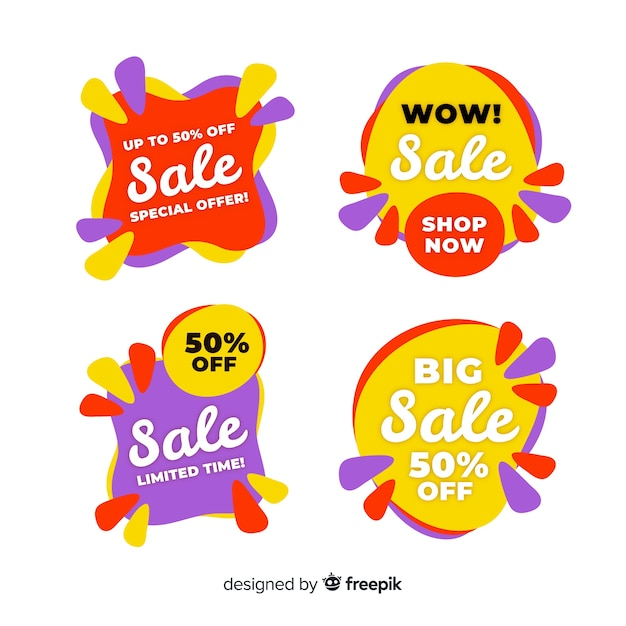 Abstract sale banner templates collection Free Vector