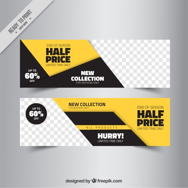 Abstract sale banner templates Free Vector