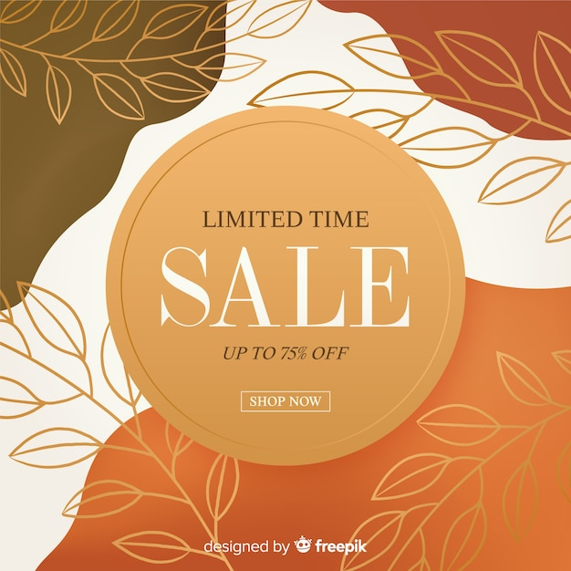 Abstract sale promotion banner template Free Vector