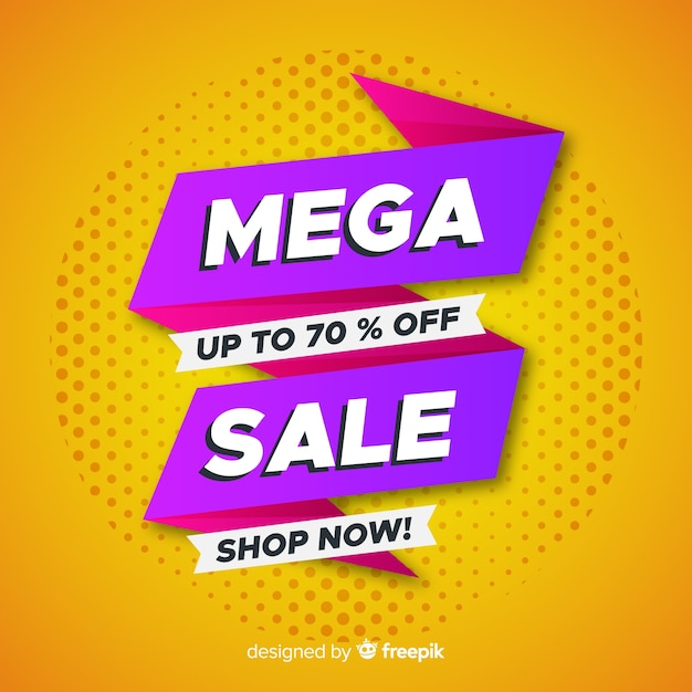 Abstract sale promotion Free Vector