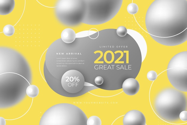 Abstract sales banner promo with color of the year Free Vector
