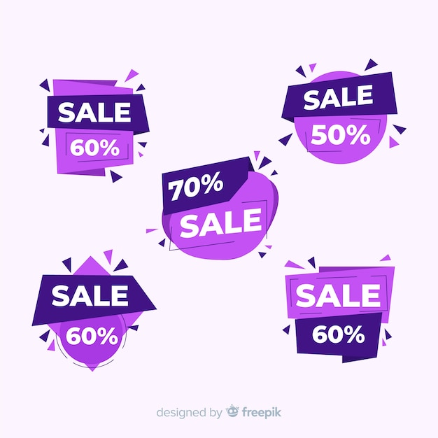 Abstract sales banner templates collection Free Vector