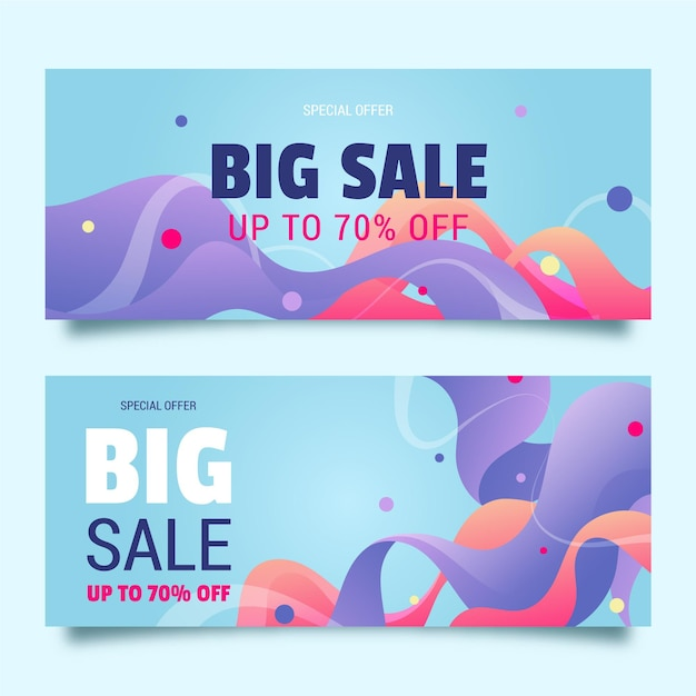 Abstract sales banners set Free Vector