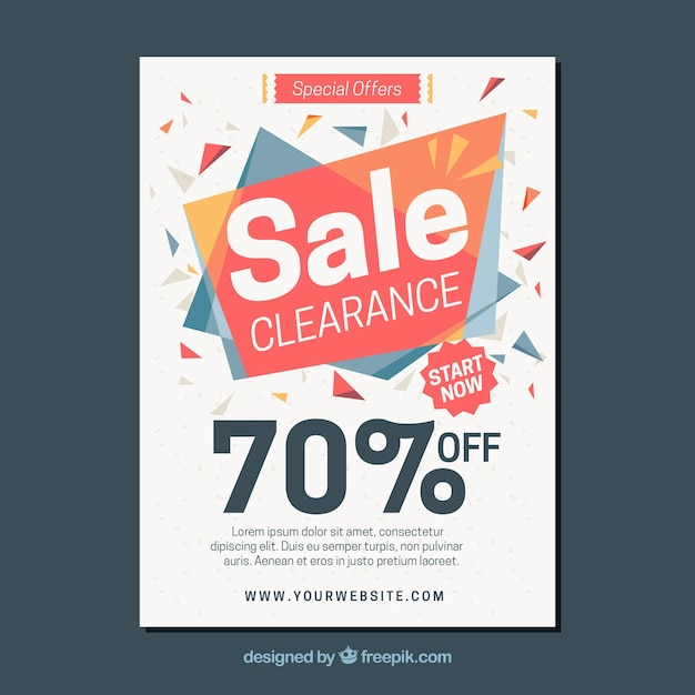 Abstract Sales Brochure Vector | Free Download