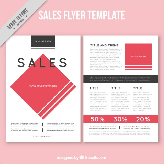 sales brochure template free - abstract sales flyer template vector free download