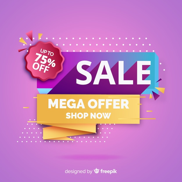 Abstract sales promotion backround Free Vector