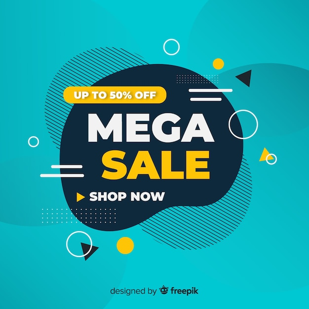 Abstract sales promotion Free Vector