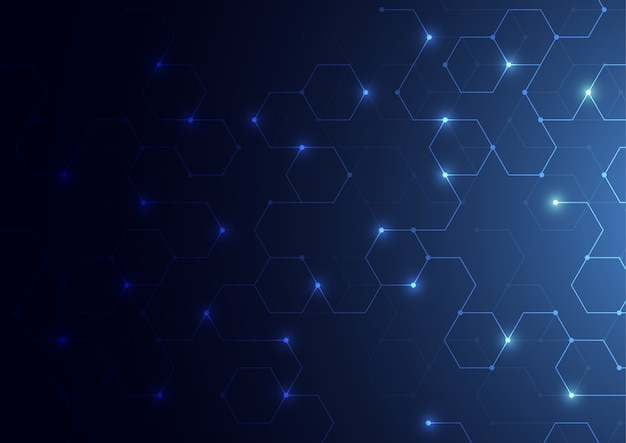 Abstract science concept background polygonal Premium Vector