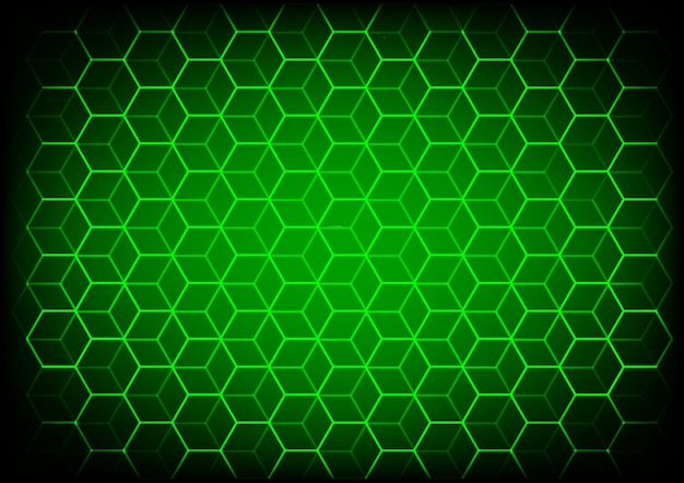 Abstract science and technology concept with hexagonal elements background Premium Vector
