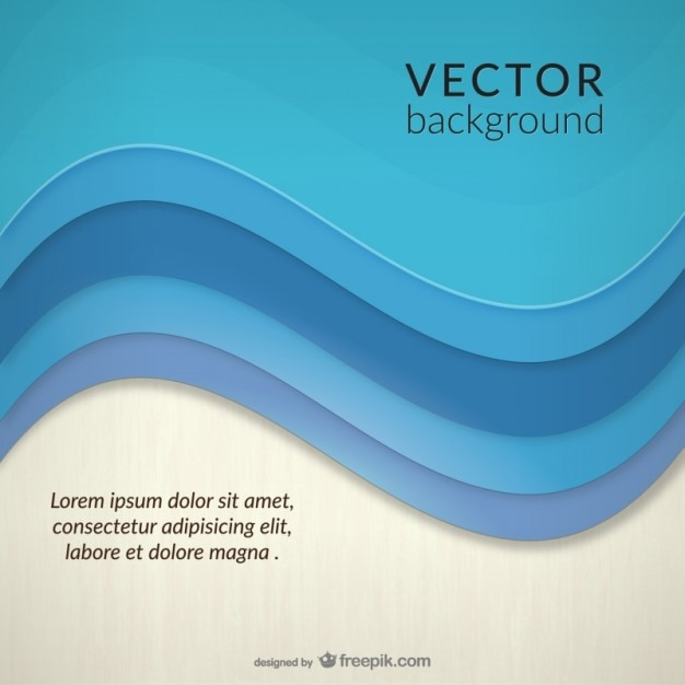 Abstract Sea Wave Background Template Vector Free Download