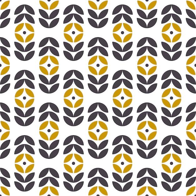 Abstract seamless geometric pattern in scandinavian style. retro floral motif. vector wallpaper. Premium Vector