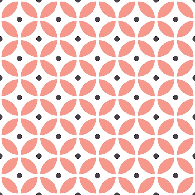 Abstract seamless geometric pattern in scandinavian style. Premium Vector