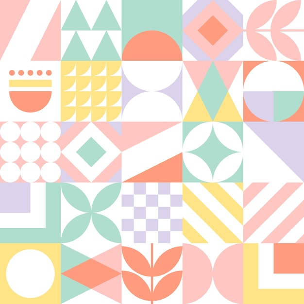 Abstract seamless geometric pattern. Premium Vector
