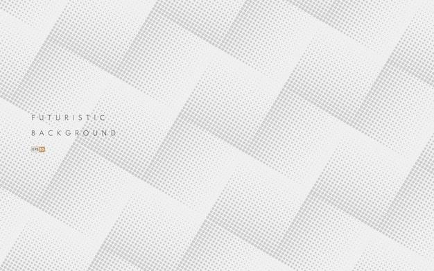 白い背景の上の抽象的なシームレスな灰色のハーフトーン格子パターン。豪華でエレガントなパターン。 Premiumベクター