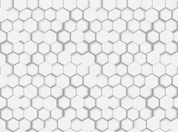 3 dの六角形と色合いの抽象的なシームレスな六角形パターンテクスチャ Premiumベクター