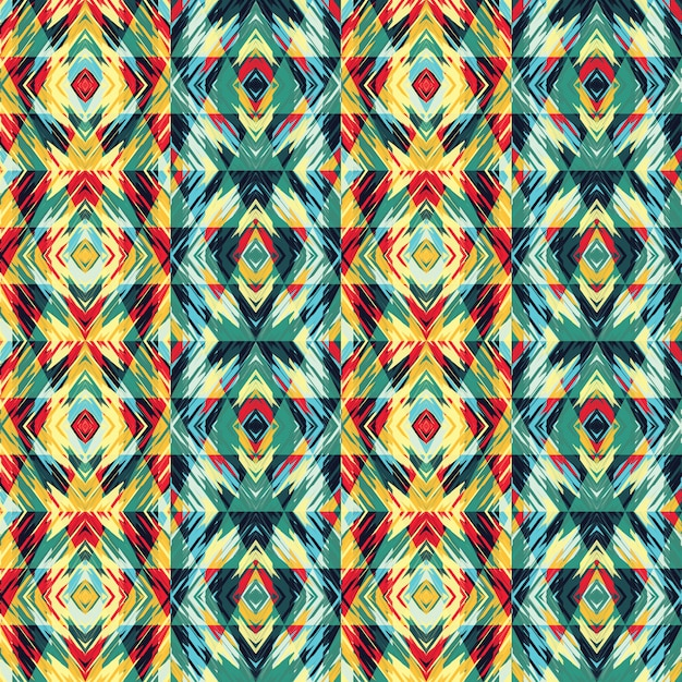 Abstract seamless pattern with geometric elements Premium Vector