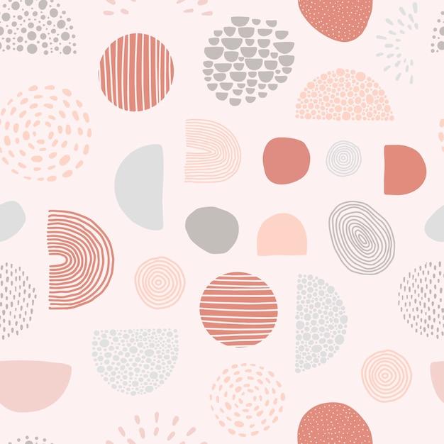 幾何学的形状と抽象的なシームレスパターン Premiumベクター