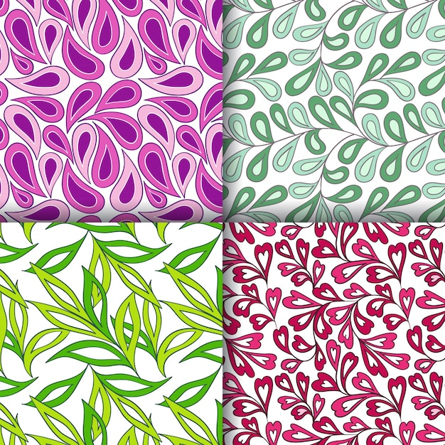 Abstract seamless patterns Premium Vector