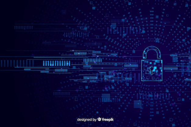 Abstract secure technology background Free Vector
