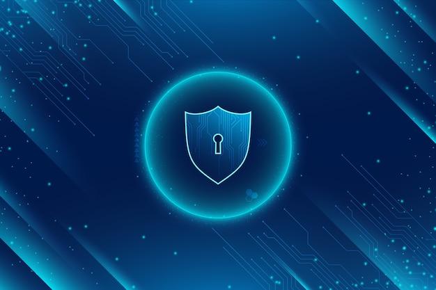 Абстрактный безопасный фон технологии Бесплатные векторы