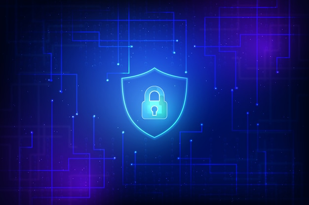 Abstract secure technology wallpaper Free Vector