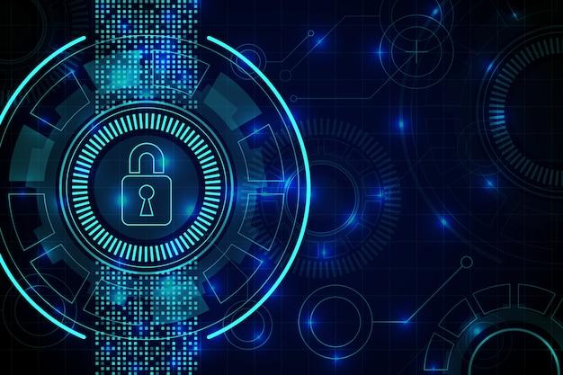 Абстрактные безопасные технологии обои Premium векторы
