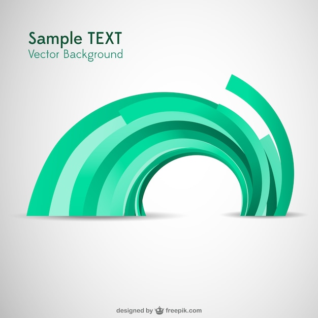 Abstract semicircle decorative background Free Vector