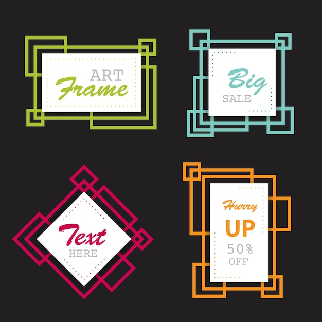 abstract shape banner frames Free Vector