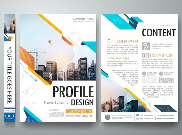 abstract shape poster portfolio layout design  vector