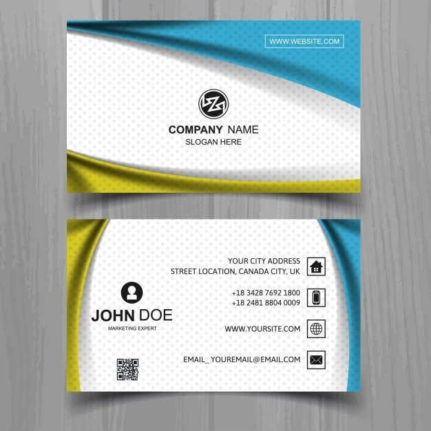 Abstract shapes business card vector free download for Business cards shapes