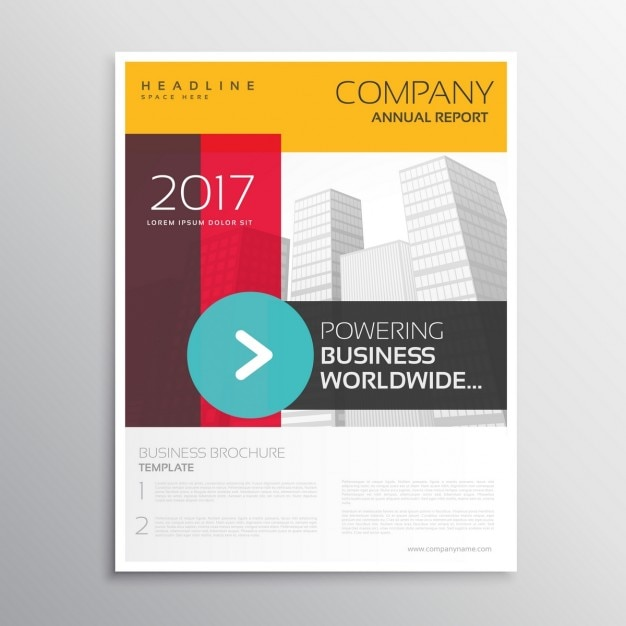 Abstract Shapes Corporate Brochure Template Vector | Free Download