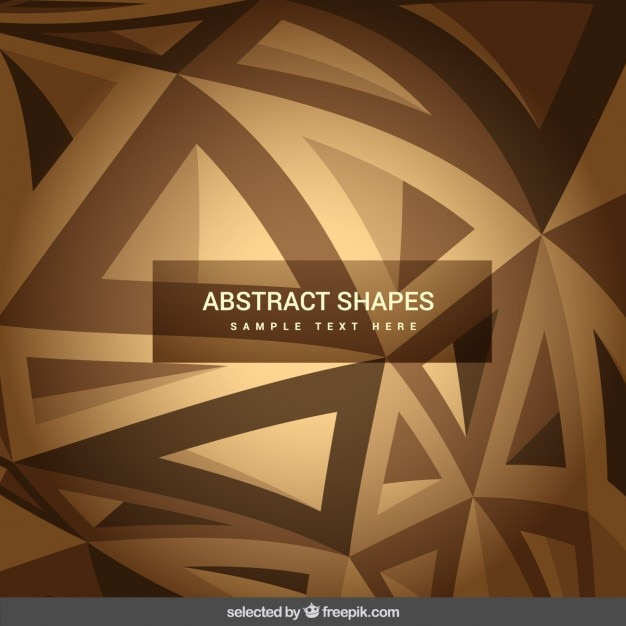 Abstract shapes in brown tones Free Vector