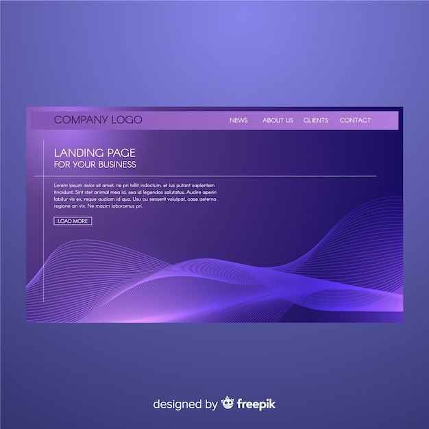 Abstract shapes landing page Free Vector