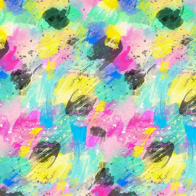 추상적 인 모양 수채화 패턴 무료 벡터