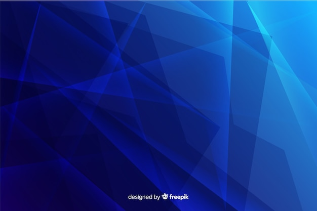 Abstract shattered gradient blue glass background Free Vector