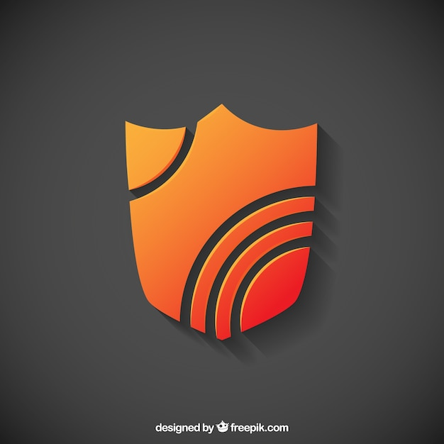 Abstract shield Free Vector